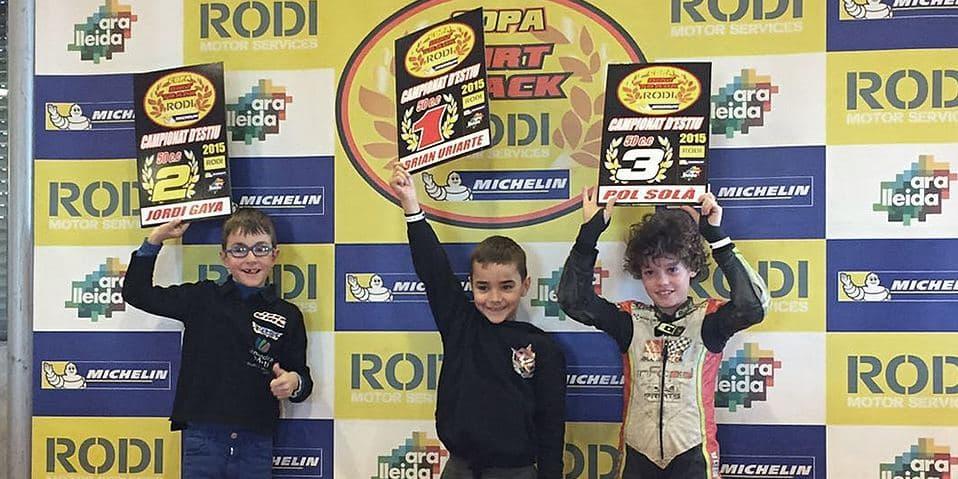 Ganadores categoría 65cc Copa Rodi Dirt Track 2015