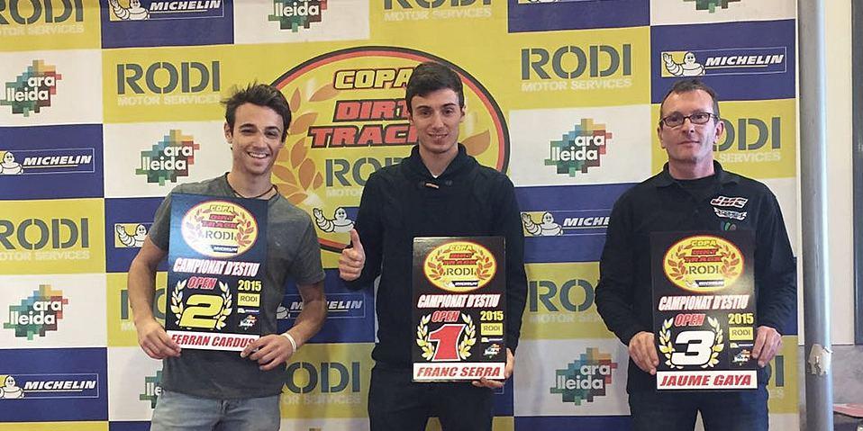 Ganadores categoría Open Verano Copa Rodi Dirt Track 2015