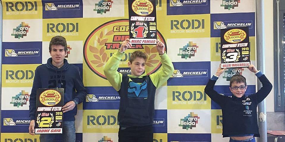 Ganadores categoría 85cc Copa Rodi Dirt Track 2015