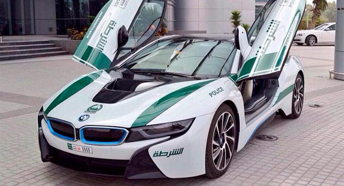 Coche de policía BMW i8