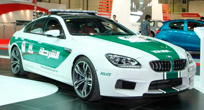 Coche de policía BMW M6 Gran Coupe