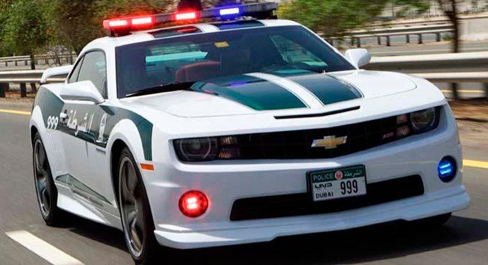 Coche policía Chevrolet Camaro SS