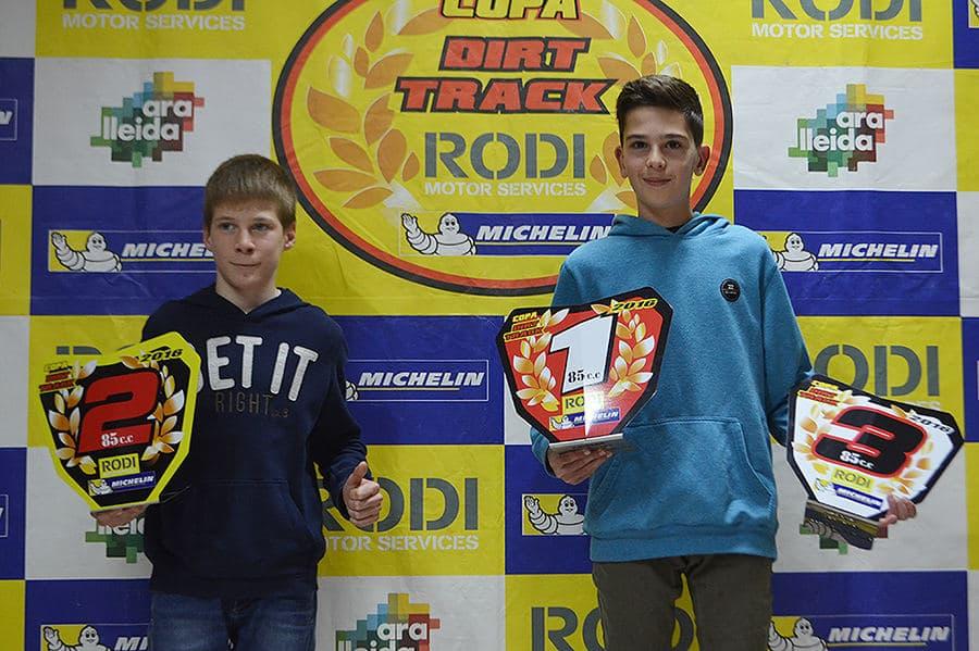 Ganadores Dirt Track categoría 85 cc.