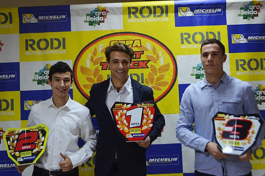 Ganadores categoría Open Copa Rodi Dirt Track 2016