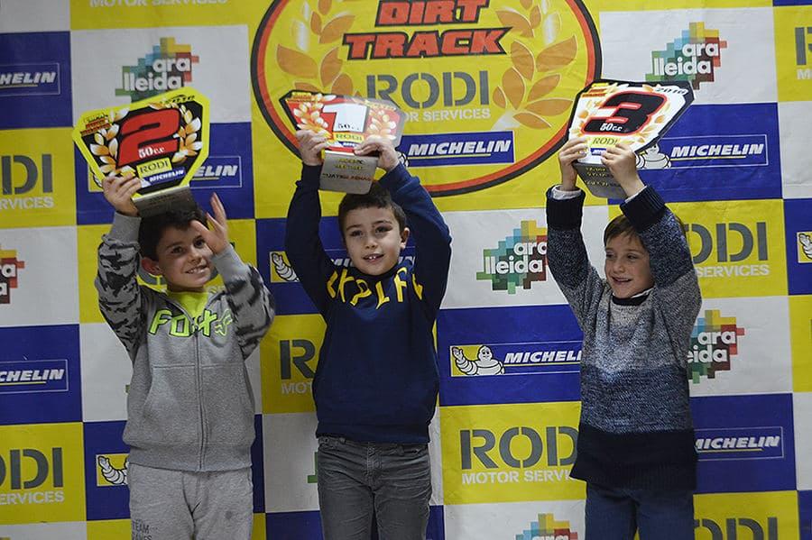 Ganadores categoría alevines 50 Copa Rodi Dirt Track 2016