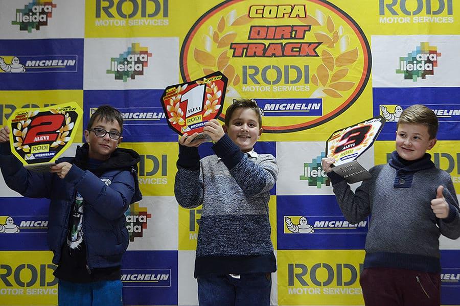 Ganadores categoría alevines Copa Rodi Dirt Track 2016
