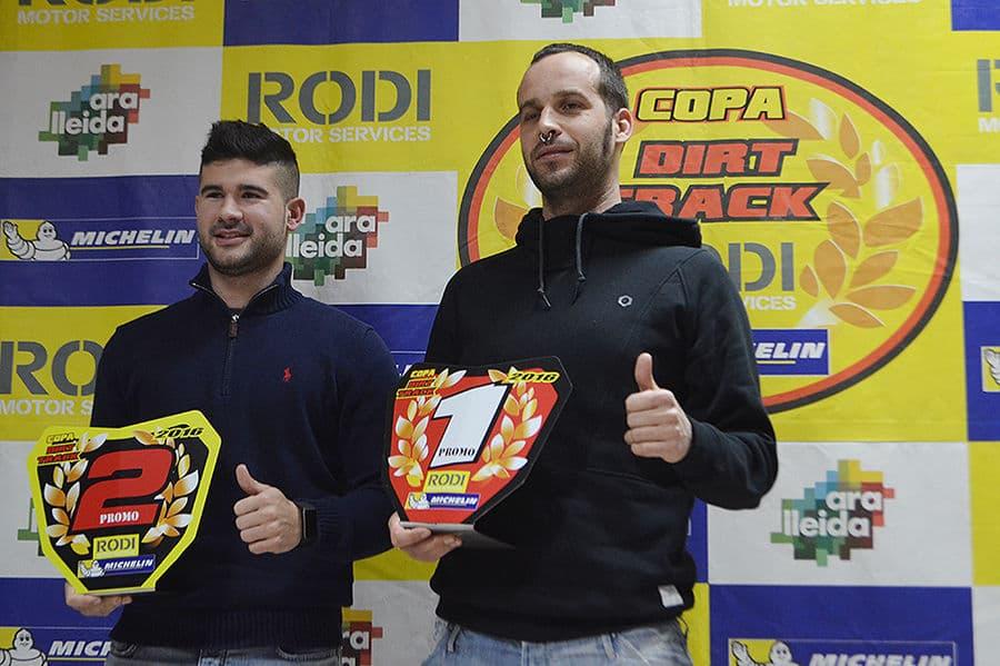 Ganadores categoría Promo Copa Rodi Dirt Track 2016