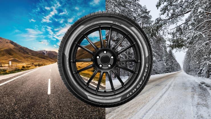 neumatico 4 carretera nevada verano estaciones
