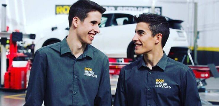 Àlex y Marc Márquez, embajadores de Rodi Motor Services