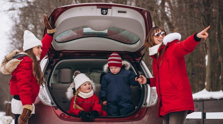 coche navidad niños