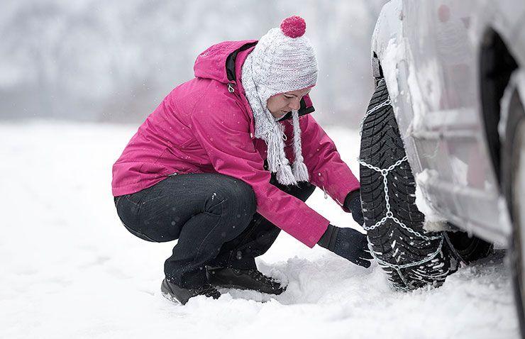 cadenas nieve coche invierno