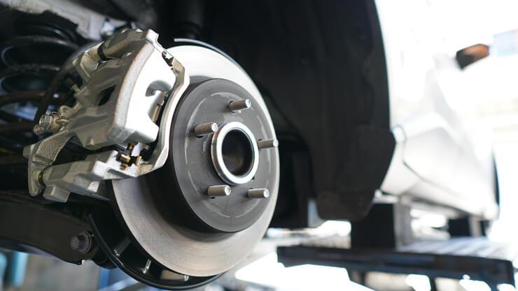 frenos de coche sin neumatico